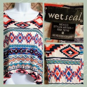 Wet Seal Tribal Colored Shirt
